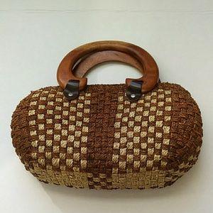 Rattan vintage handbag